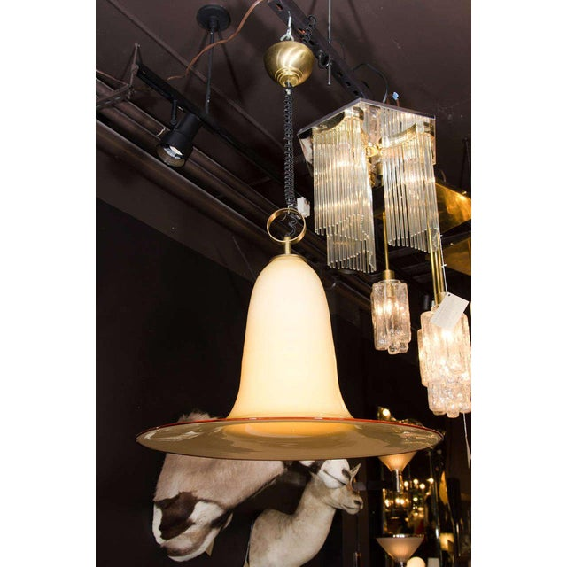 1960s Seguso Large Murano Chandelier With Elongated Bell Form, 1960's For Sale - Image 5 of 10