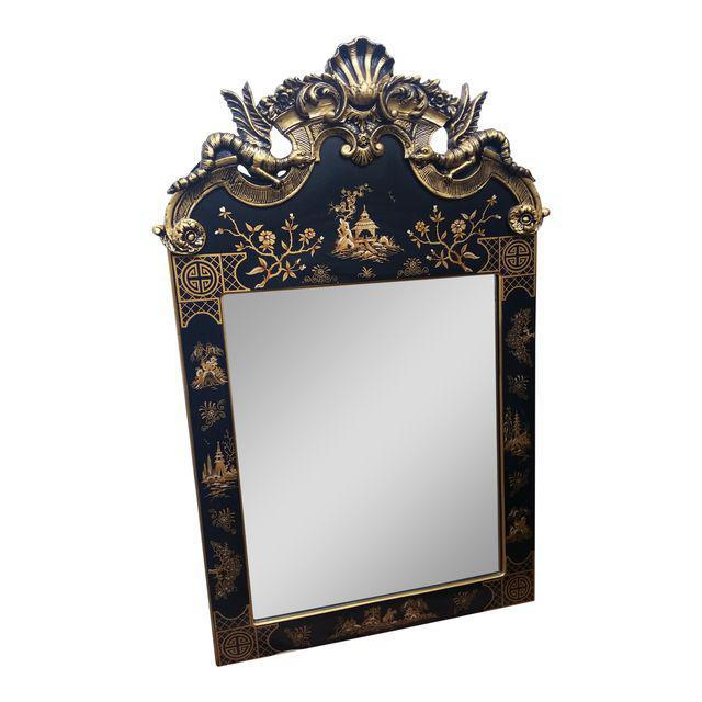 Maison jansen style chinoiserie asian mirror chairish for Asian style mirror