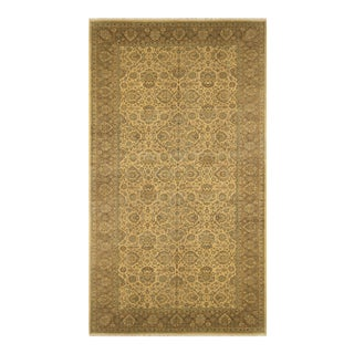 Istanbul Raymond Ivory/Tan Turkish Hand-Knotted Rug -10'3 X 19'11 For Sale