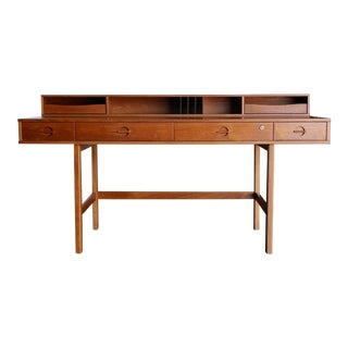 Peter Løvig Nielsen Flip Top Teak Desk, Circa 1960 For Sale