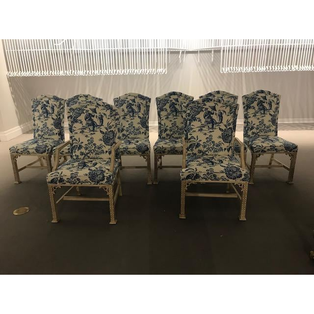 1990s Vintage Century Chinoiserie Chippendale Dining Chairs- Set of 8 For Sale - Image 11 of 11