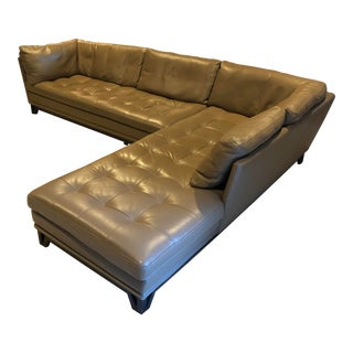 Roche Bobois Italian Leather Sectional For Sale