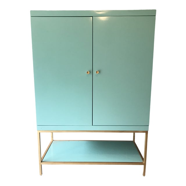 Mid Century Modern Lacquered Storage Cabinet For Sale
