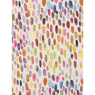 Sample, Scalamandre Jamboree Fabric, Magenta/Multi For Sale