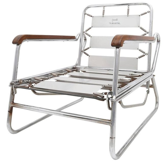 1950s Italian Swimming Pool Chaise Lounge Chair For Sale - Image 11 of 11