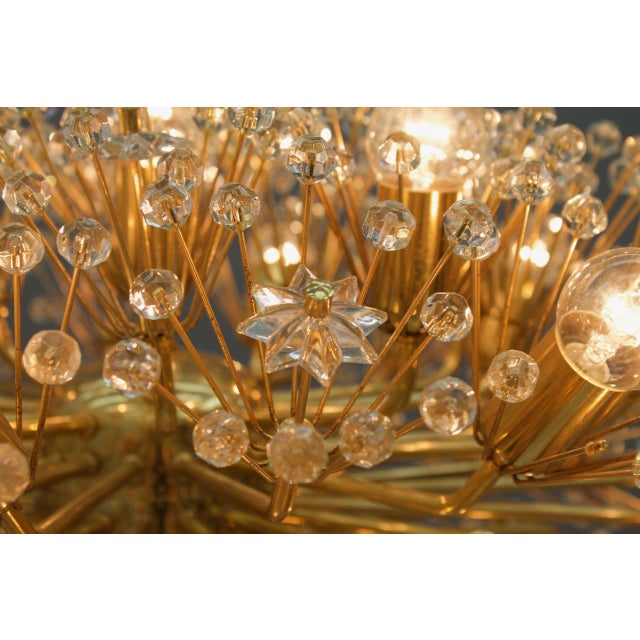 1960s Huge Brass and Glass Chandelier, 1960s For Sale - Image 5 of 7