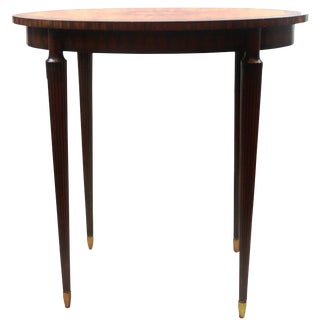 Pasargad N Y Aubergine Finished Mahogany Oval Occasional Table For Sale