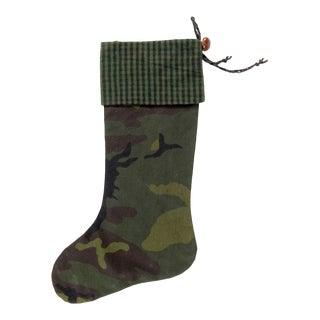 Custom Camouflage Christmas Stocking For Sale