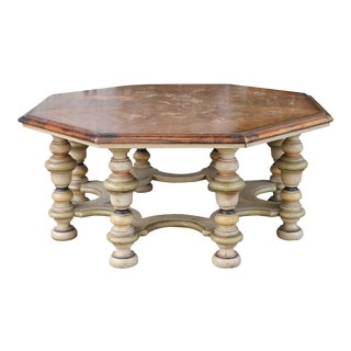 1980s Drexel Heritage French Coffee Table For Sale