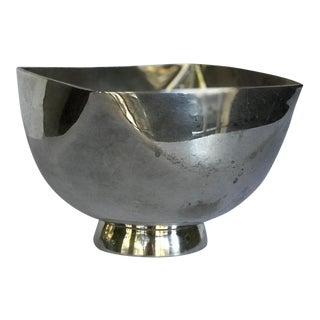 Vintage Ward Bennett Signed Silver Plate Bowl For Sale
