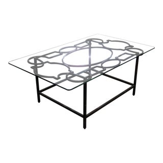 Jonathan Charles Industrial Style Coffee Table For Sale
