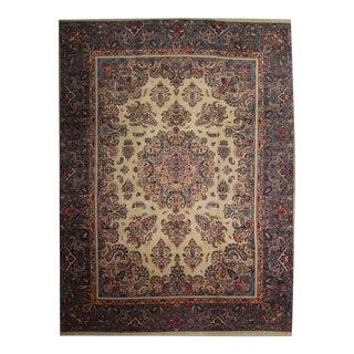 Vintage Contemporary Decorative Khorasan/Machar Area Rug- 9′10″ × 13′ For Sale