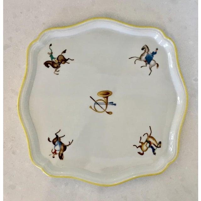 White Gio Ponti for Richard Ginori Equestrian Theme Porcelain Tray For Sale - Image 8 of 9