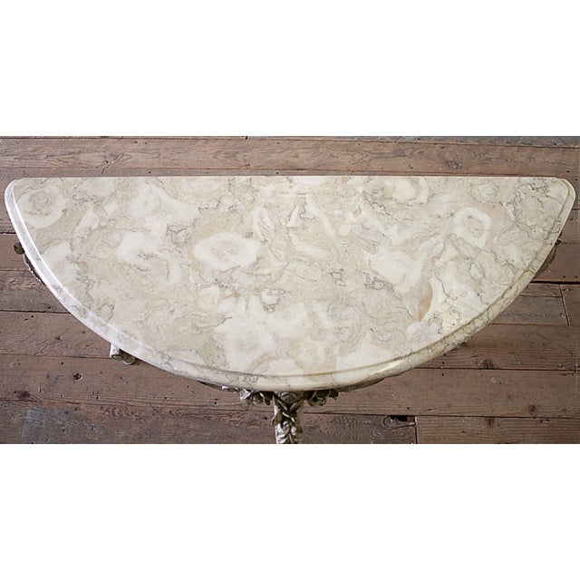 Early 20th Century 20th Century French Carved Console Table With Marble Top For Sale - Image 5 of 13