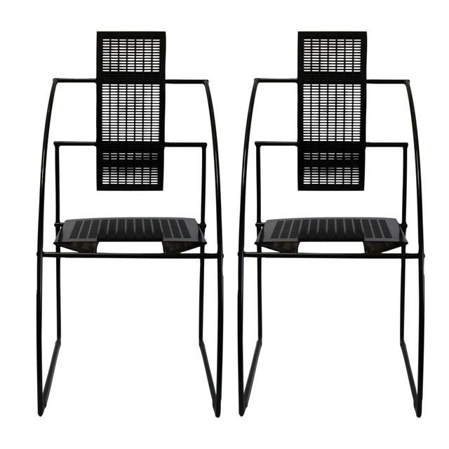 Mario Botta Memphis Postmodern Chairs 80s - S/4 - Image 2 of 4