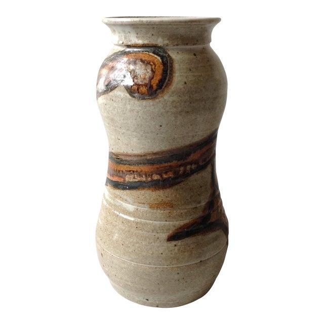 Studio Pottery Neutral Tone Glazed Vase - Image 1 of 11