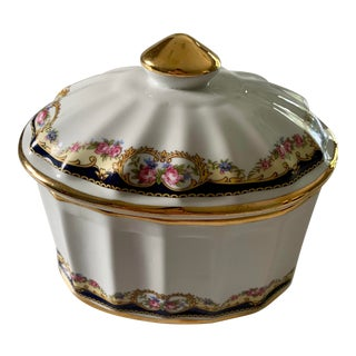Labrazel Gold and Floral Canister With Lid For Sale