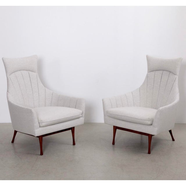 White Pair of Paul McCobb Symmetric Group Lounge Chairs by Widdicomb For Sale - Image 8 of 8