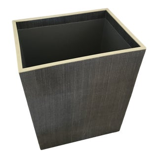 Pigeon and Poodle Maranello Rectangular Wastebasket For Sale