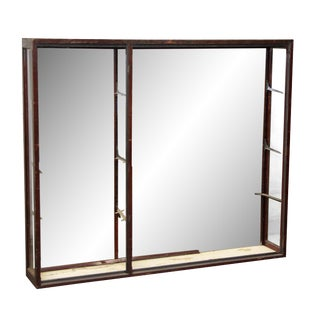 Narrow Mirrored Back Showcase For Sale