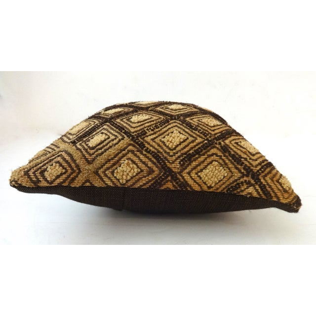 African Embroidered Kuba Textile Pillow Congo For Sale - Image 5 of 6