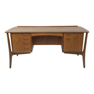 Danish Modern Teak Desk by Svend Madsen For Sale