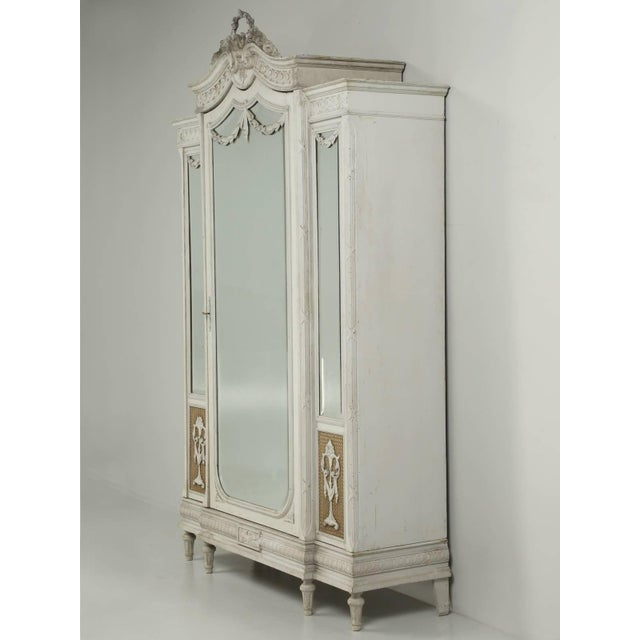 Antique French Original Painted Armoire, Circa 1900 For Sale - Image 10 of 10