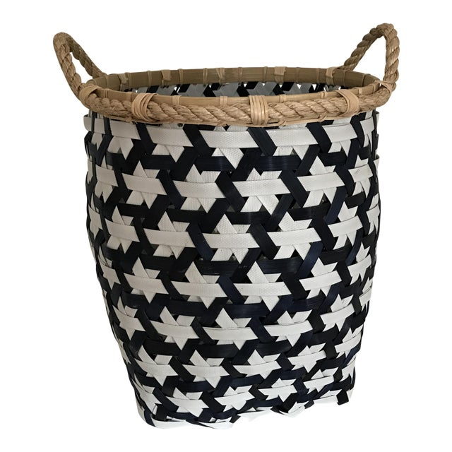 Anthropologie Starry Night Woven Basket - Image 1 of 9