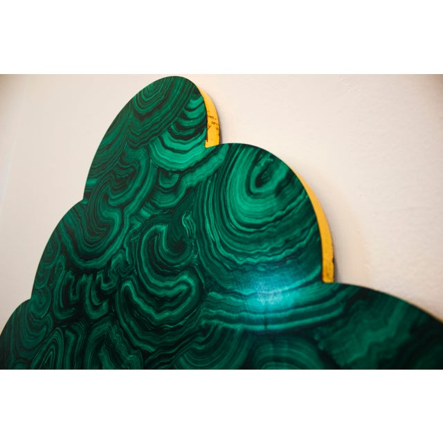 Green Malachite Wall Mirror For Sale - Image 9 of 13