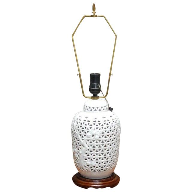 Diminutive Japanese Blanc De Chine Porcelain Table Lamp