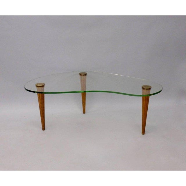 Gilbert Rohde Style Art Deco Floating Glass Cloud Coffee Table - Image 2 of 5