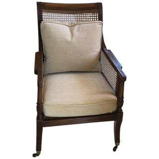 19th C. English Regency Rosewood Library Armchair For Sale