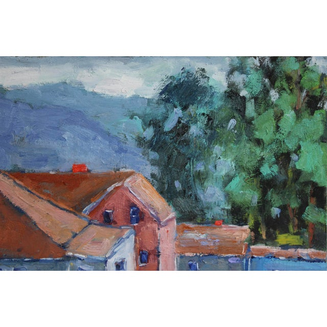 Shabby Chic Original Oil Painting Landscape, Fort Bragg California For Sale - Image 3 of 13