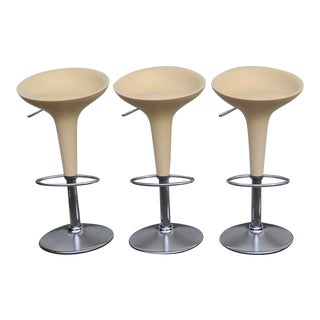 1990s Vintage Original Magis Bombo Bar Stools by Stefano Giovannoni- Set of 3 For Sale