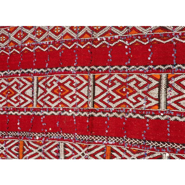 Textile Moroccan Tribal Wedding Rug With Sequins North Africa For Sale - Image 7 of 9