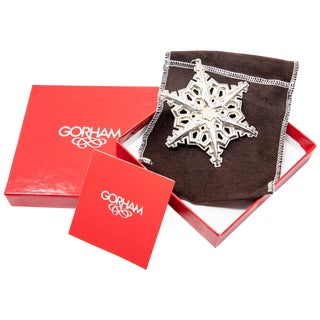 1983 Gorham Sterling Snowflake Ornament For Sale