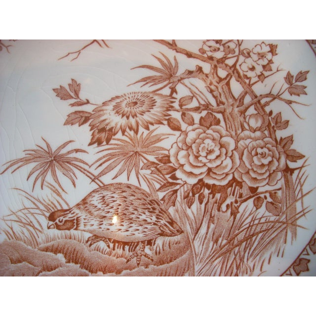 Country English Transferware Serving Platter For Sale - Image 3 of 6