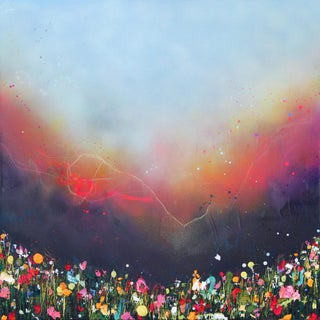 """""""Flooding Light"""" Contemporary Abstract Mixed-Media Painting by Lee Herring For Sale"""