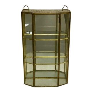 Vintage Glass Trinket Cabinet For Sale