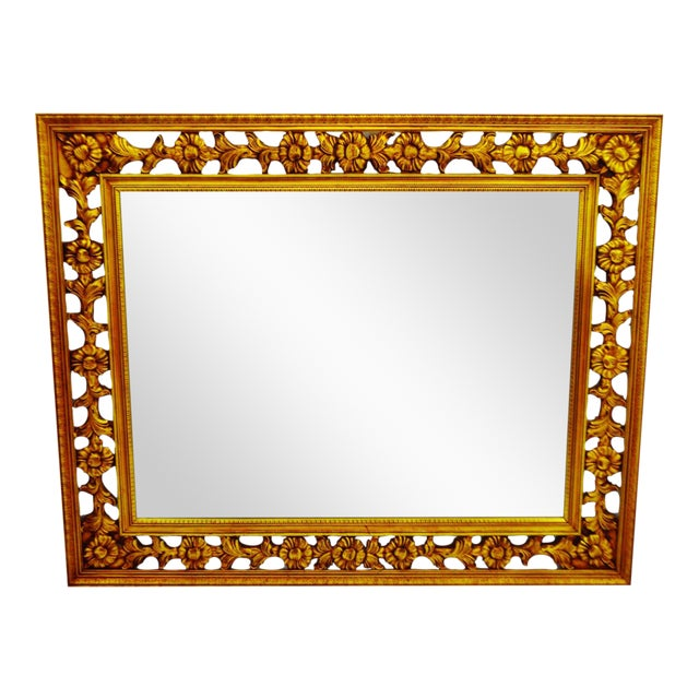 Gold Gilt Pierced Wall Mirror - Image 1 of 9