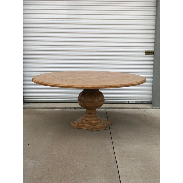 Brown 1950s French Country Dining Table With Decorative Base For Sale - Image 8 of 8