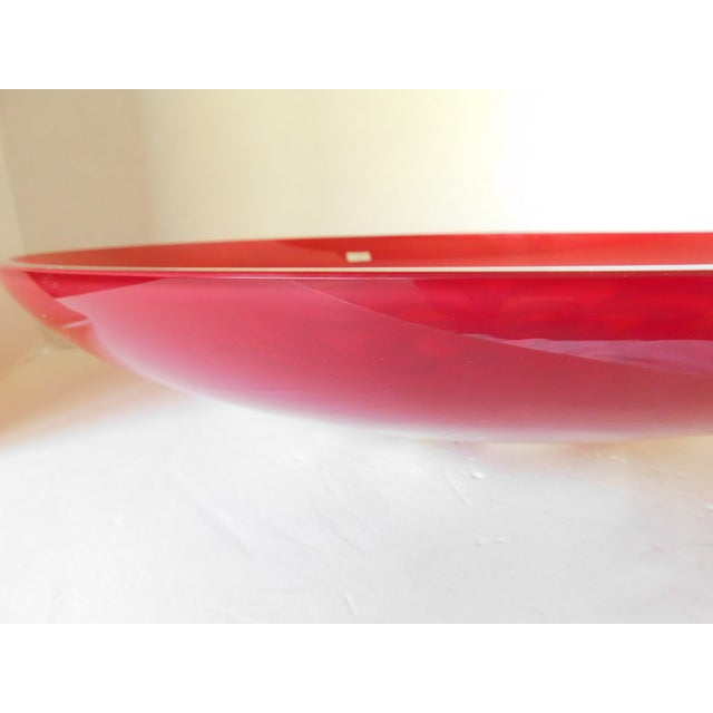 Evolution by Waterford Red Art Glass Round Platter For Sale - Image 10 of 12
