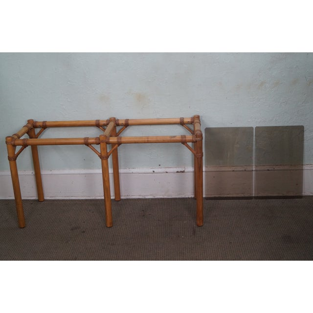 Vintage Faux Bamboo Console Table - Image 8 of 10