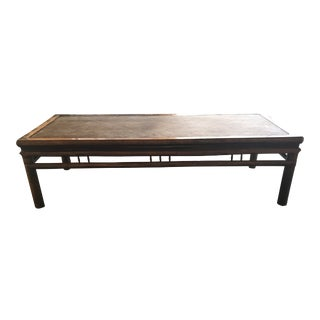 Black and Rattan Opium Daybed For Sale