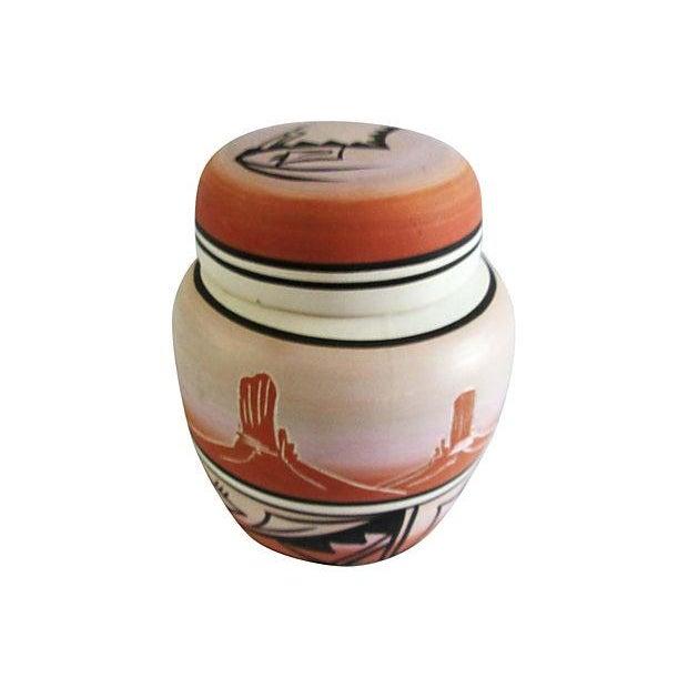 Rustic Navajo Pottery Desert Range Jar For Sale - Image 3 of 6