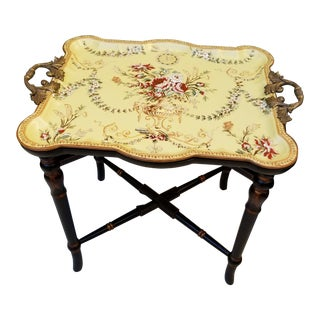 Porcelain Tray Table For Sale