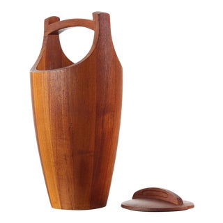 Jens Quistgaard Danish Modern Teak Ice Bucket for Dansk - a Pair For Sale