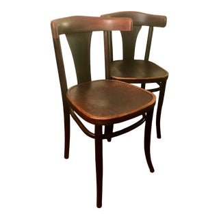 Michael Thonet Style Bentwood Pressed Seat Chair Made in Poland - a Pair For Sale