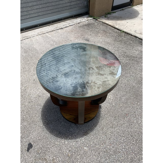1940s Vintage French Art Deco ''Tulip'' Macassar Coffee Table or Side Table For Sale In Miami - Image 6 of 13