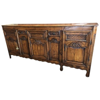 18th Century Louis XV French Provincial Golden Pear Wood Buffet For Sale